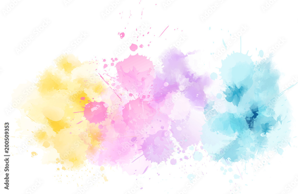 Fototapeta Watercolor light line