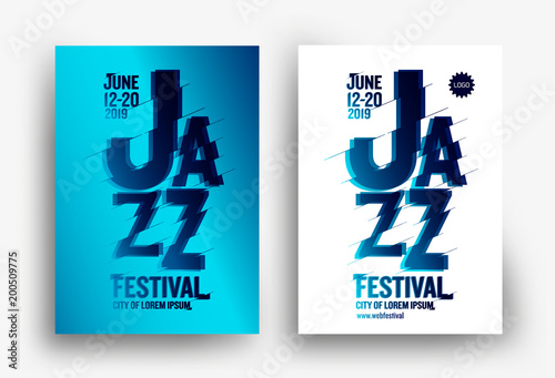 jazz music poster design template creative jazz typography background for promotion of music events