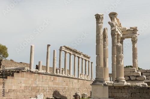 Foto op Aluminium Rudnes ruins of the Temple of Trajan in the ancient Greek Roman city of Pergamon