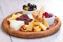 Cheese Plate With Olives