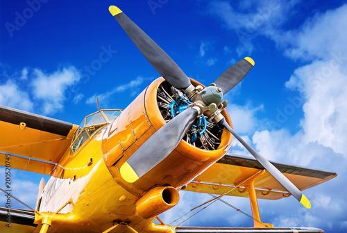 Canvastavla propeller of an historical aircraft