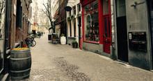 A Street In The Old Town Of Antwerp, Belgium.
