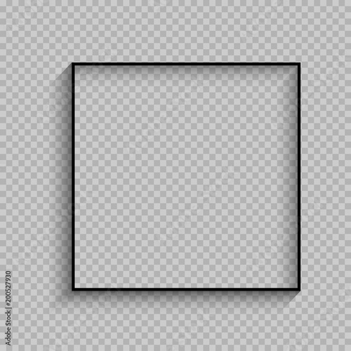 Fotografia, Obraz black thin square frame with shadow