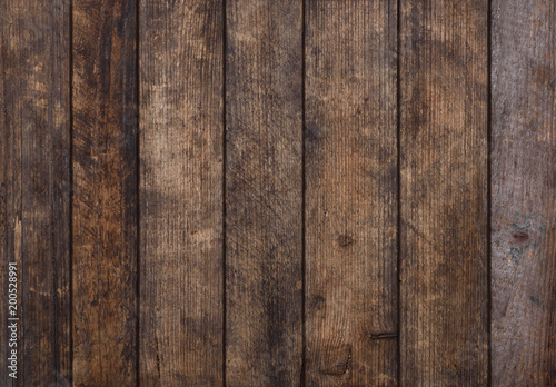 Papiers peints Bois Rough old grunge weathered wood planks background