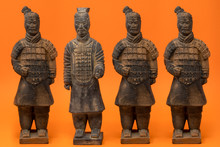 4 Isolated Chinese Terracotta ...