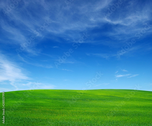 Papiers peints Montagne field and sky