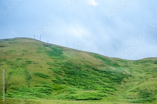Poster Blauwe hemel Scenic Landscape View of Mountain, Forest against blue sky