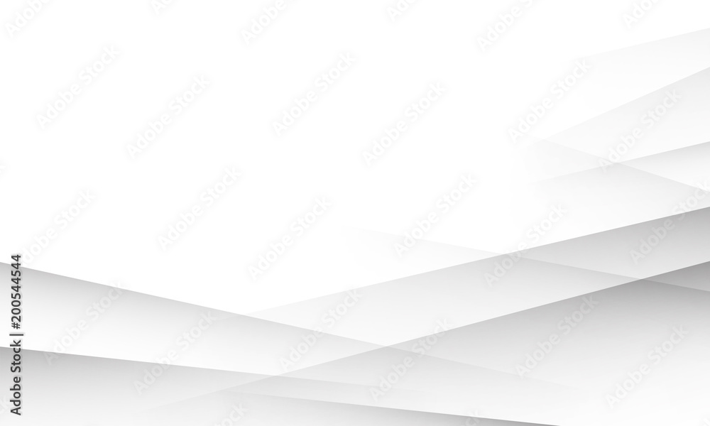 White background with abstract layers shadows texture. White or light grey gradient background for business presentation, banner, poster, cover or flyer design template