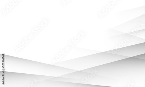 White background with abstract layers shadows texture. White or light grey gradient background for business presentation, banner, poster, cover or flyer design template - 200544544