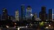 Houston, Texas city center, a twilight timelapse 4K