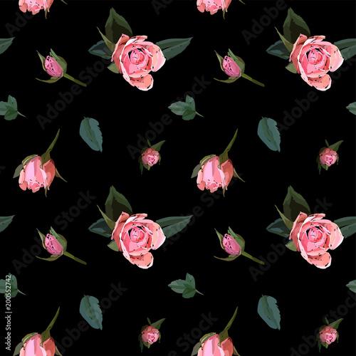 kwiatowy-wzor-bezszwowe-tlo-akwarele-rozowe-roze-ogrodowe-w-recznie-rysowane