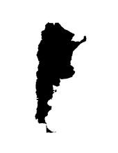 Map Of Argentina. Vector Illus...