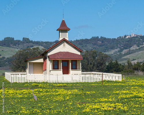 Slika na platnu Old school house San Simeon California