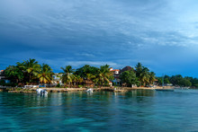 Saona Island Coast With Hotels View From Water