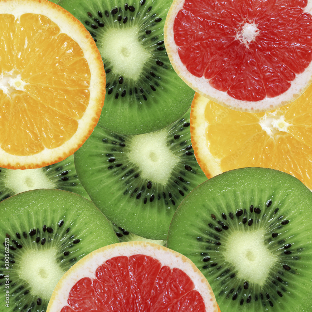 owoce-zdjęcie-tło-owoc-grapefruit-kiwi-i-pomarańczowy-owoc