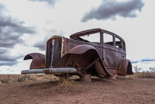 Old Rusted Out Car Carcass At ...