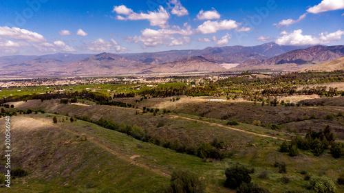 Foto op Plexiglas China Drone View Of Chapman Hills Looking Towards Mount San Gorgonio