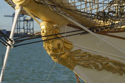 Fotografie, Obraz  Tall Ship Denmark at Port of Cadiz Spain