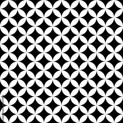 Geometric circle seamless star vector pattern Canvas Print