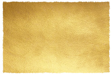 Gold Background With Uneven, Artistic Edges. Rectangle Shape. Rough Golden Texture. Luxurious Gold Paper Template For Text Design, Lettering.