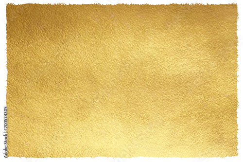 Gold background with uneven, artistic edges Canvas Print