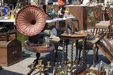 Street Flea Market Of Old Thin...