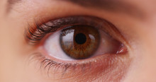 Extreme Close Up Of Caucasian Millennial's Iris