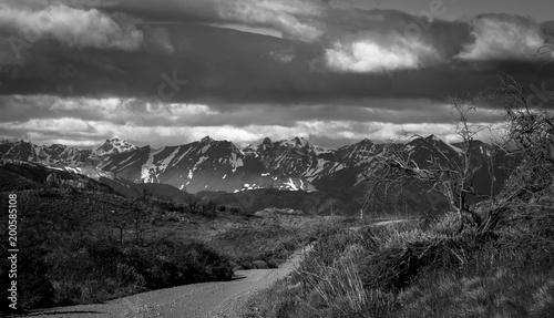 Fototapety, obrazy: Black and white Landscape