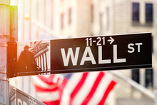 Wall Street In New York City A...