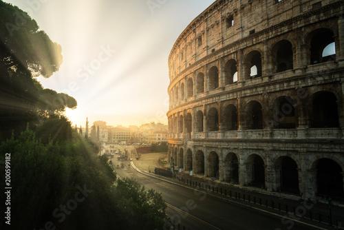 Rome Colosseum at sunrise in Rome, Italy Fotobehang
