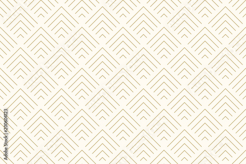 Poster Artificiel Pattern seamless abstract background chevron gold color and line. Geometric line vector.