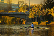Rowing At Sunset On The Bega R...
