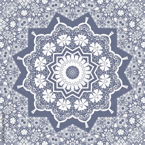 Cotton fabric Geometric retro abstract seamless pattern circle