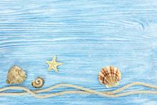 Marine Rope, Seashells And Sta...