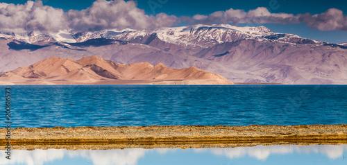 Tuinposter Zalm Nice view of Pamir in Tajikistan