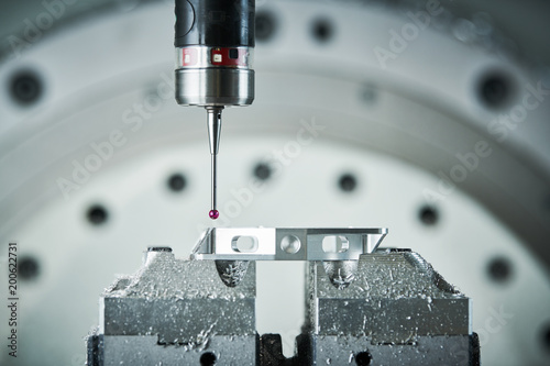 Fotografie, Obraz  Quality control on milling CNC machine