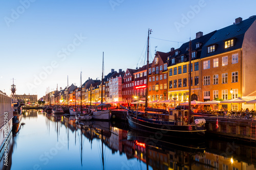 Nyhavn harbor in Copenhagen, Denmark Poster
