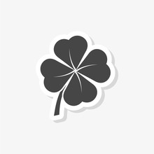 Simple Clover With Four Leaves...