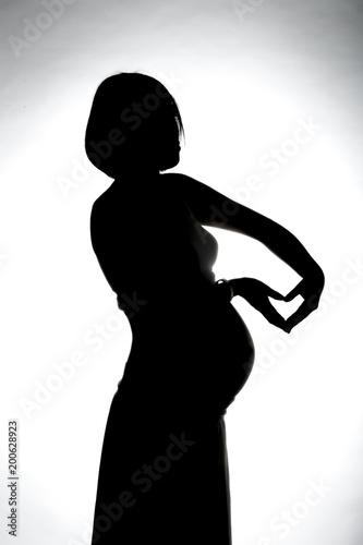 シルエット 女性 ファッション 人々 黒 孤立した 美しさ 影 体