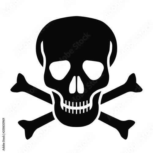 Photo Skull and bones graphic icon