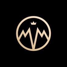 MM Lettermark Monogram Circle ...