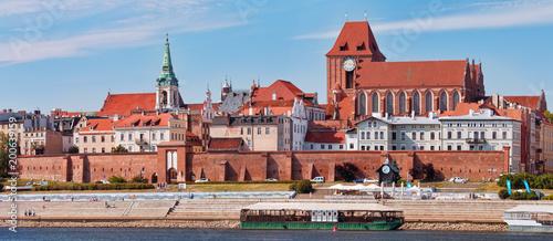 Obraz na płótnie Panoramic view of the city. Torun, Poland.