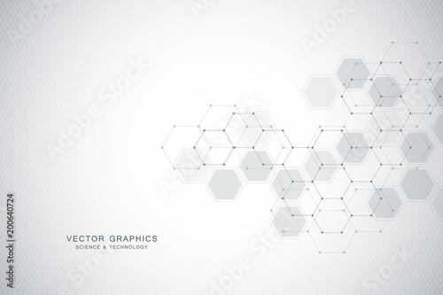 Fotografering  Medical background or science vector design