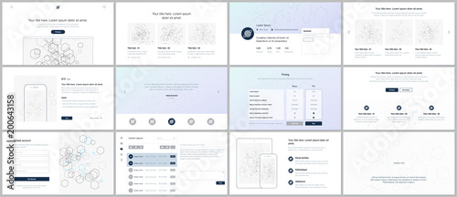 Vector templates for website design, minimal presentations, portfolio Wallpaper Mural