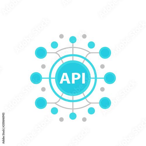 Fotografía  API, application programming interface vector illustration