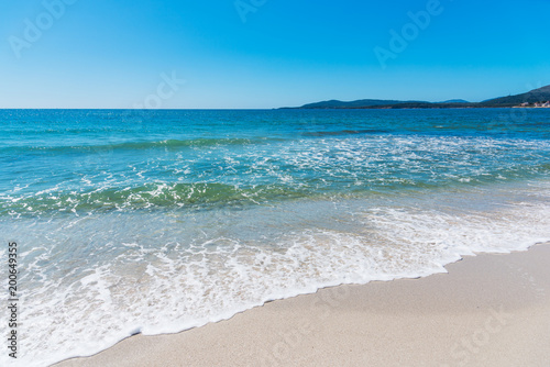Foto op Canvas Strand Crystal clear water in Maria Pia beach