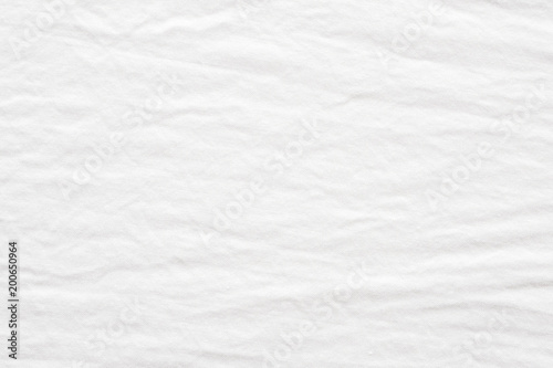 Wall Murals Fabric Wrinkled white cotton fabric textured background, Fashion pattern textile design concept background