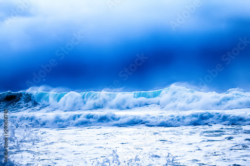 Fototapety, obrazy: impressive storm on Pacific coast