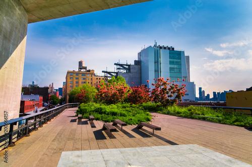 Manhattan, New York City - June 14, 2017: The High Line Park in Manhattan New York Canvas Print