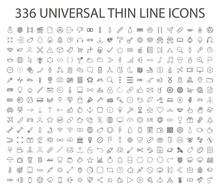 336 UNIVERSAL THIN LINE ICON V...